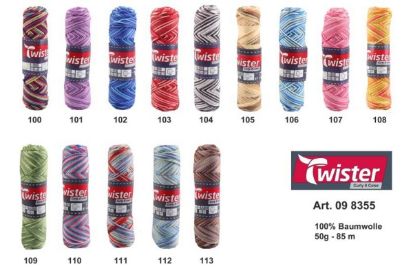 Twister, Curly 8 Color, Farbkarte