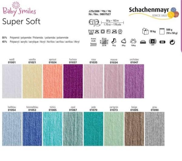 Schachenmayr, Baby Super Soft, Farbkarte