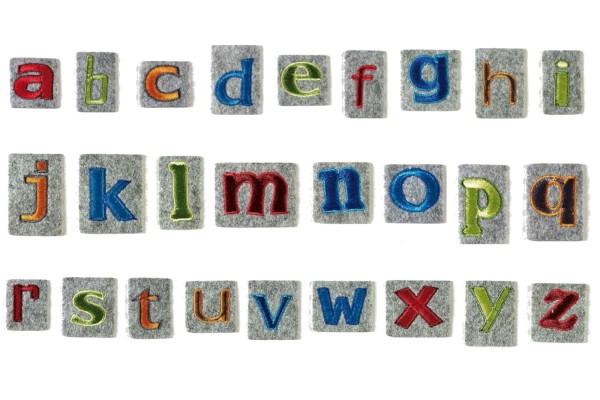 Pronty, Filz-Buchstaben, bügelbar