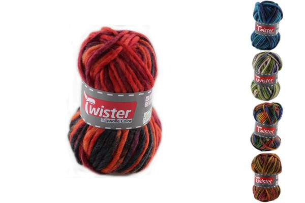 Twister, Filzwolle Color