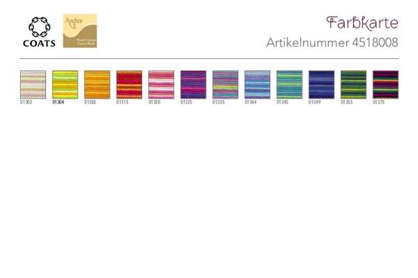 Anchor, Perlgarn 8, Multicolor