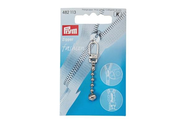 Prym 482113, Zipper mit Kugelkette in Verpackung