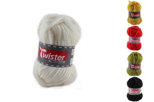 Twister, Filzwolle uni