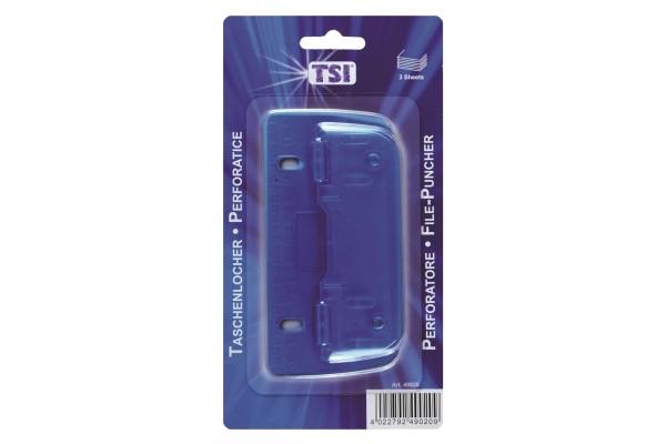 TSI, 49020, Taschenlocher, blau